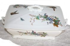 Antique French Haviland Limoges Tureen Meadow Visitors