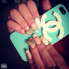 Chanel nails and iPhone case