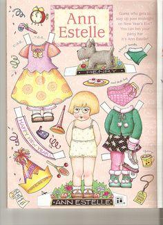 (⑅ ॣ•͈ᴗ•͈ ॣ)♡                                                                                                                      Paper doll. Ann Estelle paper doll 5 by Lagniappe*