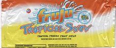 Fruju Tropical Snow Snack Recipes, Snacks, Fruit Drinks, Frozen Fruit, Cereal, Nostalgia, Tropical, Nutrition, Snow