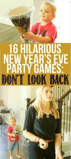 16 awesome New Years Eve party games that work for adults, for teens, for kids, or really anyone else who plays games! Children and entire families will love these fun minute to win it style ideas to play all night long! looks hilarious! New Years With Kids, Family New Years Eve, New Years Eve Games, New Years Eve Day, New Years Party, New Years Eve Party Ideas For Family, New Year's Eve Activities, Party Activities, Halloween Activities