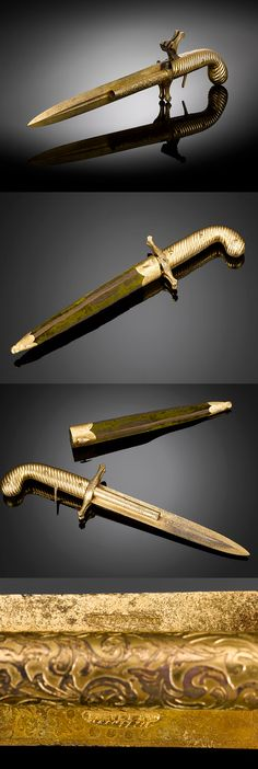 An incredibly fascinating and rare knife/percussion pistol by the Belgian-French gunmakers of Dumonthier & Sons, ca. 1850