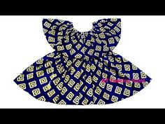 How to learn a gathered circular ruffle cape baby dress Cutting & Stitc. Kids Frocks Design, Baby Frocks Designs, Baby Girl Frocks, Frocks For Girls, Cotton Frocks For Kids, Baby Girl Frock Design, Sewing Dresses For Women, Kids Suits, Sewing Patterns For Kids
