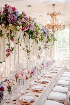 An Ombré Floral Wonderland ~ WedLuxe Magazine Wedding Table Centerpieces, Flower Centerpieces, Wedding Decorations, Table Decorations, Floral Wedding, Wedding Colors, Wedding Flowers, Wedding Art, Luxury Wedding