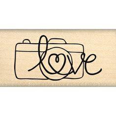 Tampon Florilèges Design - Photo Love