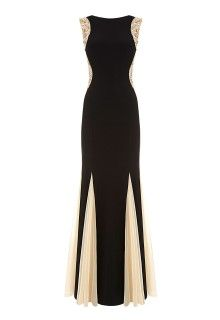 Forever Unique Bellissa Beaded Maxi Dress in Black