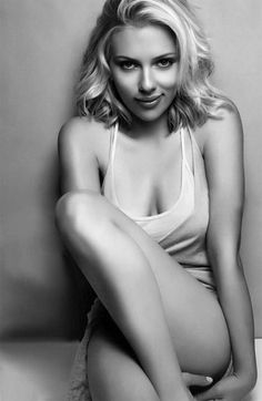 "Another pinner said-I wake up in the morning and ask God, ""Why am I not Scarlett Johansson?""- I think we all do!"