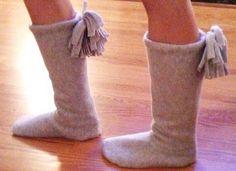 DIY: Fleece Boots