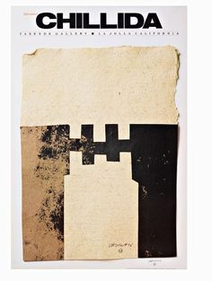Available for sale from Alpha 137 Gallery, Eduardo Chillida, CHILLIDA (Hand Signed) from the Robert and Ruth Vogele Collection Offset Lithograph. Vintage Posters, Printmaking, Artsy, Sculpture, Inspiration, Signs, Gallery, Painters, Artwork