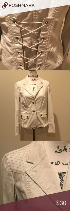 Khaki Utility Jacket Size 14, Gallery Brand, Khaki Utility Jacket.  In great preowned condition. No flaws. Bandolino Jackets & Coats