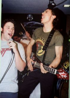 Seth Rogen and James Franco on the set of Freaks and Geeks.