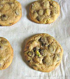 Salted Pistachio & Orange Chocolate Chip Cookies