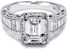 Engagement rings by Tacori feature the iconic crescent design. Each engagement ring is expertly handcrafted by our artisans in California and are custom made for your Tacori Girl. The details in a Tacori ring create stunning beauty from every angle. Luxury Engagement Rings, Emerald Cut Engagement, Platinum Engagement Rings, Wedding Engagement, Beautiful Rings, Pretty Rings, Just In Case, Kim Kardashian, Like4like