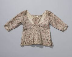 Short Gown (dated to 1850s, but I would say it is ca1800 in pattern and construction) Netherlands. jak of 'mantel', vermoedelijk 1850-1875, Axel