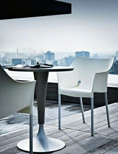 Dr. NA table & Dr. NO chair by Philippe Starck | Morning coffee with a view