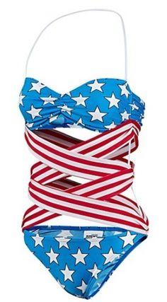 $120 █New Adidas Originals JEREMY SCOTT Swimsuit STARS & STIPES Swim Bathing Suit