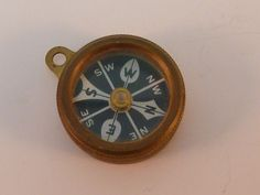Antique Marbles Gladstone Compass WWII Era Brass Michigan USA #MarblesGladstone