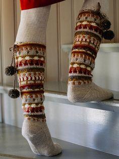 Syysunelma, virkatut ja neulotut sukat