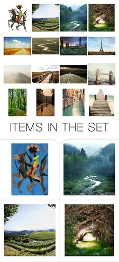 """""""The places I've been"""" by carol-ross-phipps ❤ liked on Polyvore featuring art and itemchallenge4"""