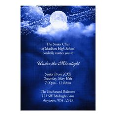Elegant Under the Moonlight Prom Formal Dance Custom Announcement