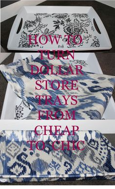 Online Interior Design- Check out my blog to see how to turn a dollar store tray into your own custom designer tray.