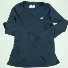 Nwot new balance black longsleeve running top New without tag  Size medium New Balance Tops Tees - Long Sleeve