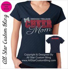Cheer Mom Chevron Glitter Shirt