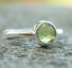 My birthstone. green peridot ring