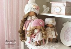 Милые девочки #кукла #doll #instadoll #хобби #текстильнаякукла #шитье #творчество #хендмейд #dolls
