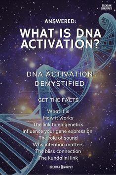 What is DNA activation? Can we use it to garner health benefits and even help deepen our spiritual progress, by eploiting epigenetics? Spiritual Enlightenment, Spiritual Awakening, Spiritual Wisdom, Healing Codes, Dna Repair, Gene Expression, Sound Healing, Emotional Healing, Holistic Healing