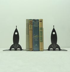 Rocketship Bookends - FREE USA Shipping. $46.99, via Etsy.