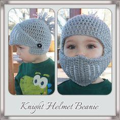 Crochet Knight Helmet Beanie Newborn  Adult Sizes by KraftyShack, $22.00