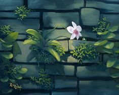 Rob Kaz - Orchid - original oil on canvas painting