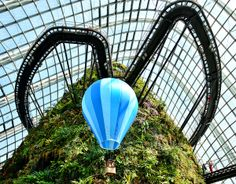 Hot air balloon manicure at Cloud Forest Singapore Tourist Spots, Air Balloon, Balloons, Gardens By The Bay, Manicure, Clouds, Landscape, Park, Hot