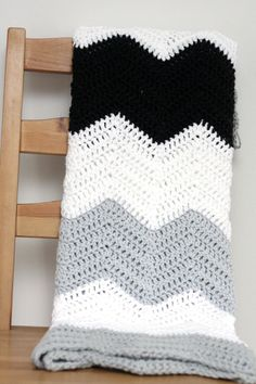 Large Stripe Color Block Crochet Chevron by TheSweeterSideMom