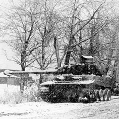 Rare Tiger I in the bulge...left track gone and muzzle cover on hmmm.