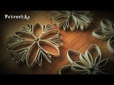 DIY Christmas crafts: CHRISTMAS ORNAMENTS form paper toilet rolls - Innova Crafts - YouTube