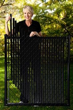 4ft Black Ridged Slats® for Chain Link Fence                                                                                                                                                                                 More
