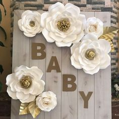 """1,037 Likes, 24 Comments - Darya (@annnevilledesign) on Instagram: """"Baby shower backdrop I made my sister in law❤️️ #paperflower #paperroses #paperflowerbackdrop…"""""""
