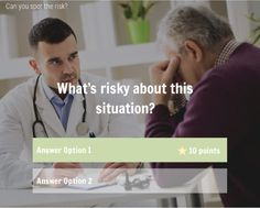 Risk Assessment Quiz - Looking for a fresh way to bust some learner assumptions? Keep it simple with this handy comparison-based knowledge check/ quiz template I created in Storyline 2.
