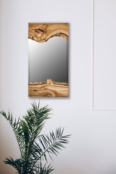Wall Mirror Wood Mirror Home Decor Vanity Mirror Bathroom Wood Mirror Bathroom, Farmhouse Bathroom Mirrors, Wood Framed Mirror, Wooden Wall Art, Wall Mirror, Wood Artwork, Wood Table Design, Rustic Coffee Tables, Mirrored Furniture