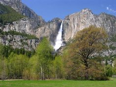 Yosemite Falls is the nation's tallest at 2,425 feet.