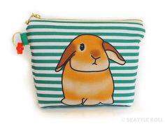 Orange Apollo's Zipper Flat Bottom Pouch for Bunny by OrangeApollo