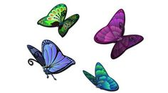 Butterfly Kit - Garden Critters - Wall art that is more than just a sticker or decal! See more at www.ZWalls.com