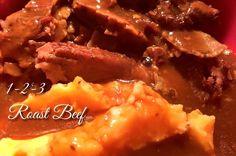 1-2-3 Roast Beef | Slow Cooker Roast Beef, Crock Pot Slow Cooker, Beef Steak, Pressure Cooker Recipes, Easy Dinner Recipes, Gourmet Recipes, Crockpot Recipes, Cooking Recipes, Slow Cooking