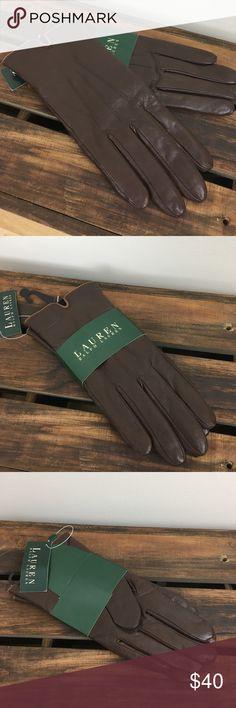 Lauren Ralph Lauren Brown Faux Leather Gloves Final price drop! Reposting 2/3. NWT brown faux leather gloves from Lauren Ralph Lauren. OS. Style: 409673. Color: 290 Lauren Ralph Lauren Accessories Gloves & Mittens