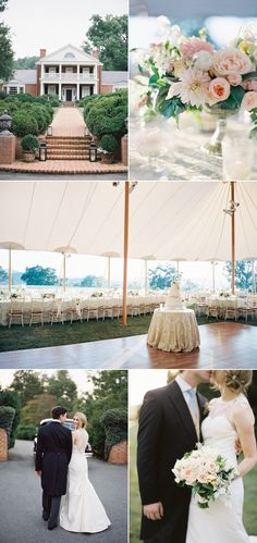 At-Home Wedding in the Blue Ridge Mountains - Style Me Pretty