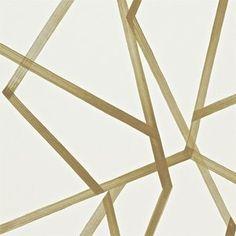 Behang Harlequin Sumi  Collectie:Momentum 3 Behangcollectie Design name: Sumi behang Kleur: gebroken wit, goud Rolbreedte (cm): 68,6 cm Rollengte: 10 meter Patroonherhaling (cm):76,2 cm Onderhoud...
