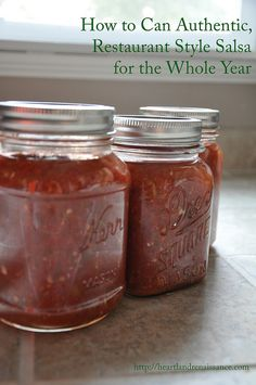 How to Can Authentic Restaurant Style Salsa for the Whole Year