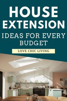 On a budget? Here are some house extension ideas for people on every budget, big or small. Whether you have the cash to spend, or your tracking every penny, there's a way for you to extend your home!   Home Extension Ideas   Home renovation inspiration   Building Costs, Building A House, Interior Walls, Interior Design Kitchen, Different Types Of Houses, Single Storey Extension, Extra Bedroom, Types Of Rooms, Extension Ideas